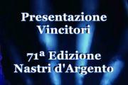 Conferenza di presentazione dei vincitori della 71a edizione dei Nastri d'Argento
